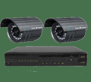 Kit 2 x cámaras videovigilancia