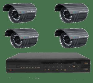 Kit 4 x cámaras videovigilancia